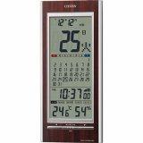 CITIZEN シチズン  掛置兼用 高精度センサー搭載の温度・湿度表示付電波時計パルデジットカレンダー142 8RZ142-023