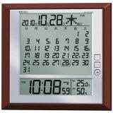 マンスリーカレンダー (1ヶ月カレンダー) 機能搭載 SEIKO電波クロック 月めくりや六曜表示 SQ421B