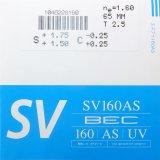Nikon 非球面UV400標準 SVシリーズ(超撥水コート付き)SV160AS-ECC 2枚1組(±3.50位まで)